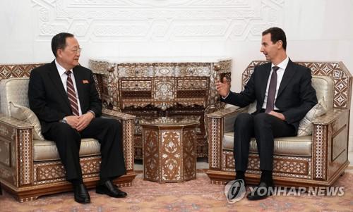 叙利亚总统4日会见朝鲜外相(韩联社)