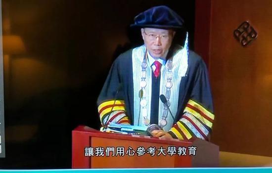 香港理工大学校长滕锦光在致辞