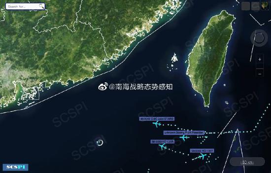 美多架军机赴南海高强度侦察 距西沙领海仅20海里