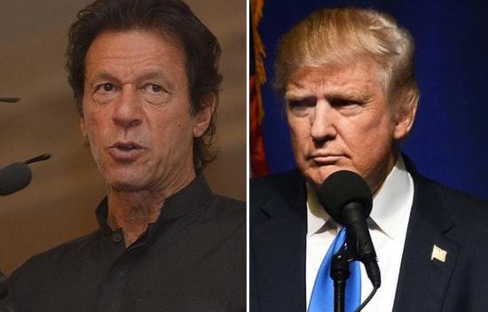 巴基斯坦总理伊姆兰·汗和美国总统特朗普(图源:法新社)