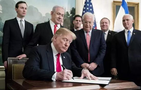 特朗普签署公告,正式承认以色列对戈兰高地拥有主权。(资料图)