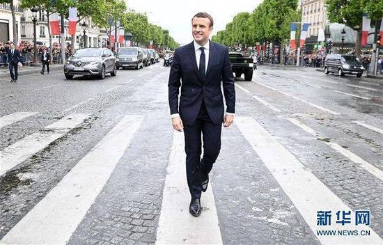 (原料图片:法国总统埃马纽埃尔·马克龙。来源:新华社/法新社)