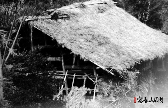 下山溪自然村昔日的茅草屋。