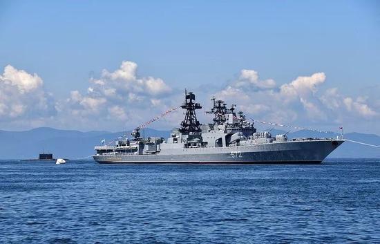 俄罗斯驱逐舰维诺格拉众夫海军上将号(原料图)