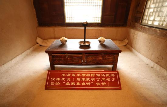 △这是1935年10月毛泽东率领中央红军途经单家集时,与宗教人士促膝夜谈的房屋(2021年1月29日摄)。新华社记者 卢鹰 摄