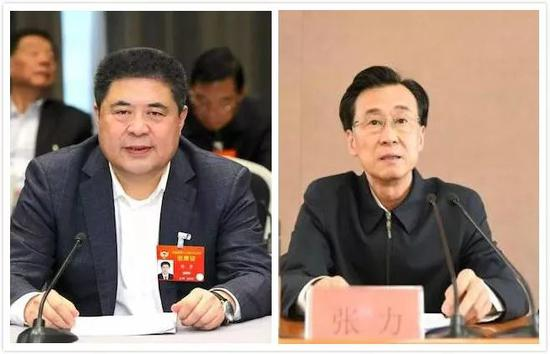 韩勇(左)、张力(右)