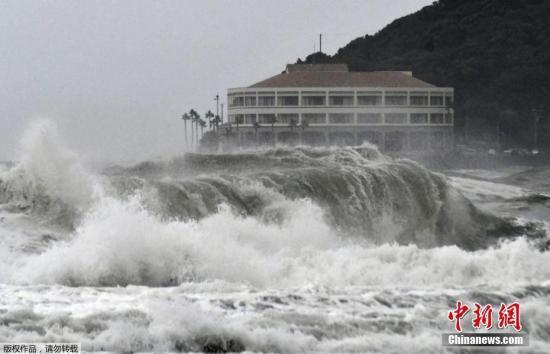"""臺風""""羅莎""""在日本登陸致16人傷 逾7000人被疏散"""