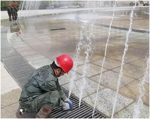 ▲吴忠盛源广场音乐喷泉