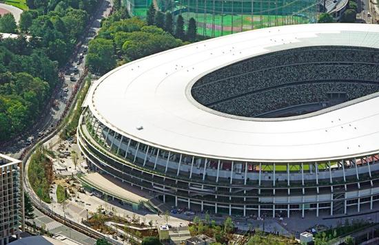 新国立竞技场。图源:产经新闻