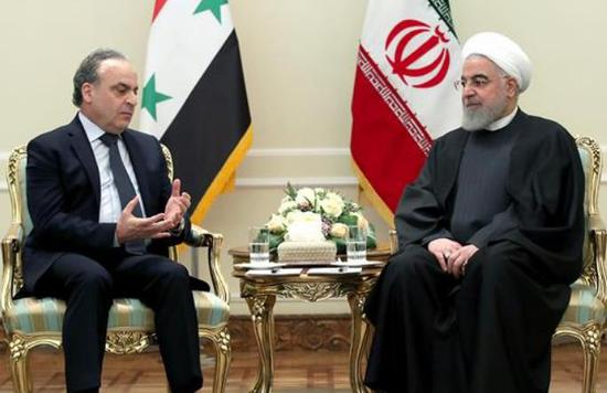 伊朗总统鲁哈尼在德黑兰会晤叙利亚总理伊马德·哈米斯。(图源:伊朗总统府官网)
