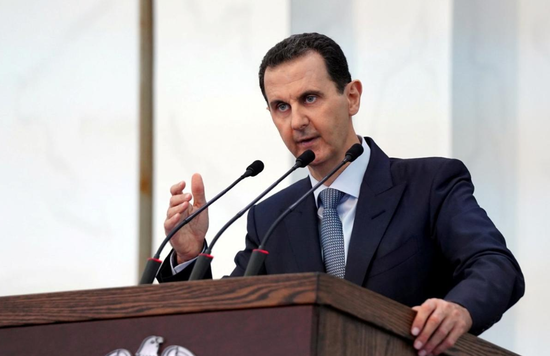 叙利亚总统巴沙尔12日进行演讲(路透社)