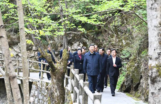 4月20日至23日,中共中央总书记、国家主席、中央军委主席习近平在陕西考察。新华社记者 谢环驰 摄