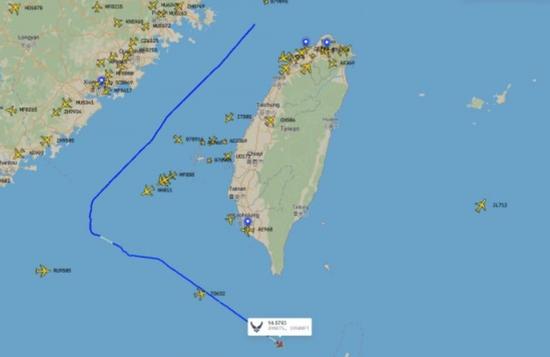 国外飞行统计平台显示的10月8日美军MC-130J特种作战飞机飞行路线