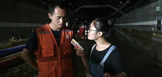 正观新闻记者今晨在京广隧道采访