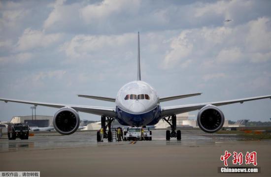 資料圖:波音787夢幻客機。