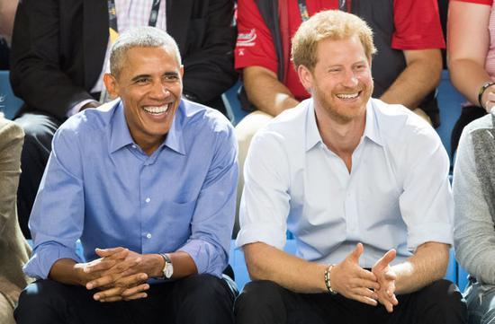 奥巴马与哈里王子