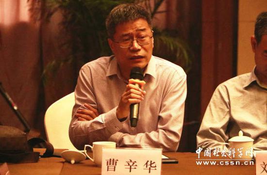 上海大学特聘教授曹辛华致辞介绍了《全民国词》编纂过程上海大学/摄