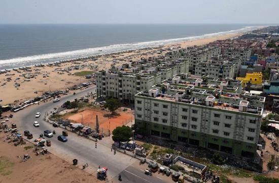 金奈,原名马德拉斯,坐落于印度东南部绵长的海岸线上,是孟加拉湾沿岸最大的城市之一。新华社记者吕小炜摄