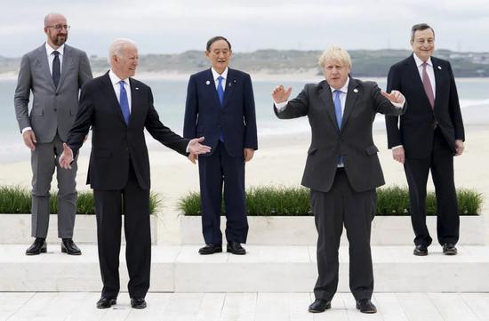 G7领导人合照。图源:KTAR