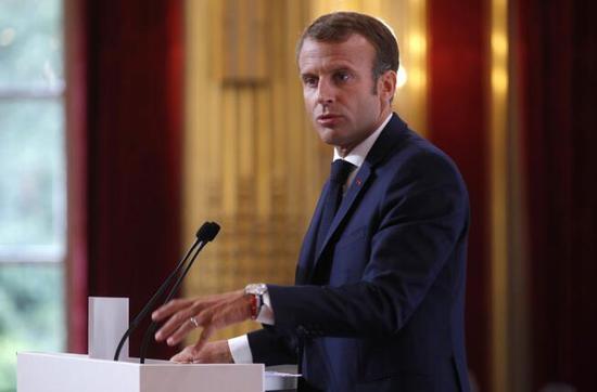 马克龙称,法国已准备对叙利亚发起新一轮打击。(图源:东方IC)
