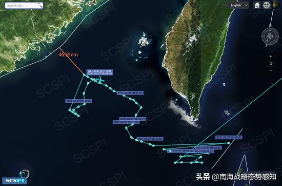 美军机逼近广东海岸侦察 距中国领海基线仅46海里