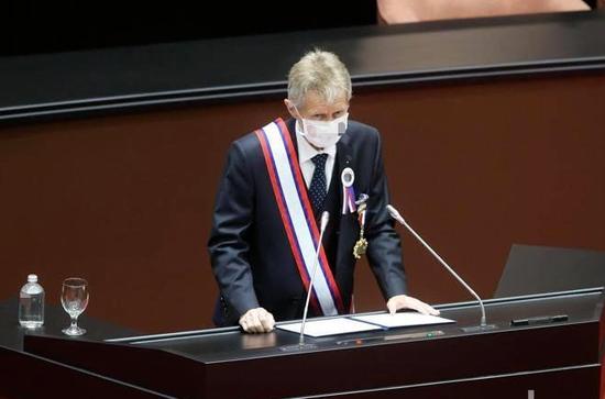 ▲捷克参议院议长维斯特奇尔。(台湾《联合报》)