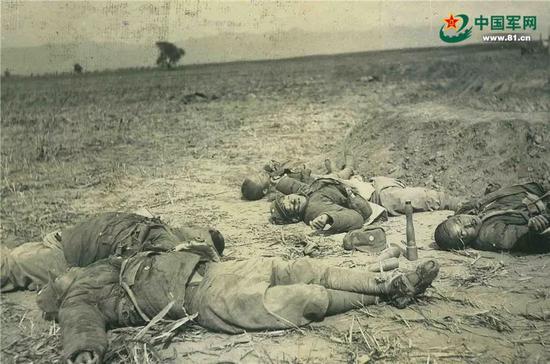 阳明堡战斗中牺牲的八路军官兵遗体照片。(编者按:致敬为国牺牲,致敬革命先烈,先烈遗容永远值得我们铭刻在心!)