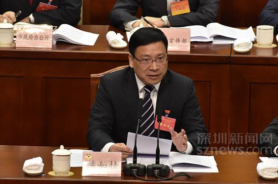 深圳市市长陈如桂(本网资料图片,摄于2019年深圳两会)