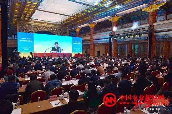 ⬆2019中国三农发展大会24日在京召开。图为大会现场。 图片来源:中国农业新闻网