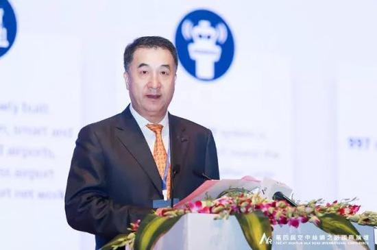 ▲中国民用航空局副局长董志毅致辞。