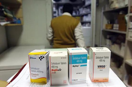 印度新德里一家销售仿制药的药店。