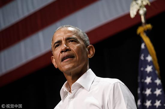 美国前总统奥巴马 (图源:视觉中国)
