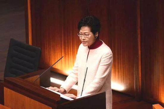 香港特区行政长官林郑月娥。图:星岛