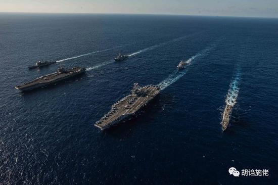 美国海军拥有11条航母,也只能保持3-4条航母随时在战备值班,印度3条航母就想保持2条航母战备值班,能够说很有自夸了 图源:美国海军