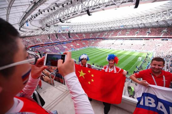 △俄罗斯世界杯上的中国球迷