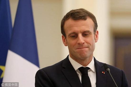 法国总统马克龙(视觉中国)