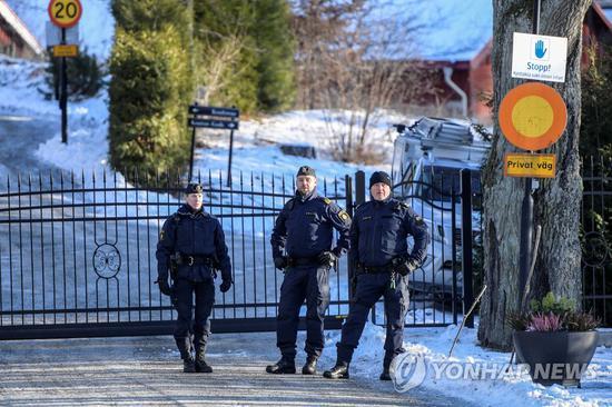 朝美会谈在瑞典一处度假村闭门进行。(韩联社)