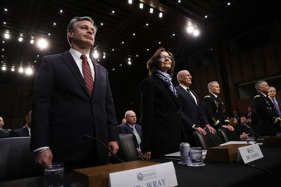 29日,美国参议院情报委员会举行年度全球威胁听证会。(美联社)