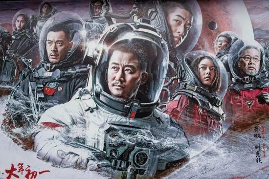▲《流浪地球》海报(视觉中国)