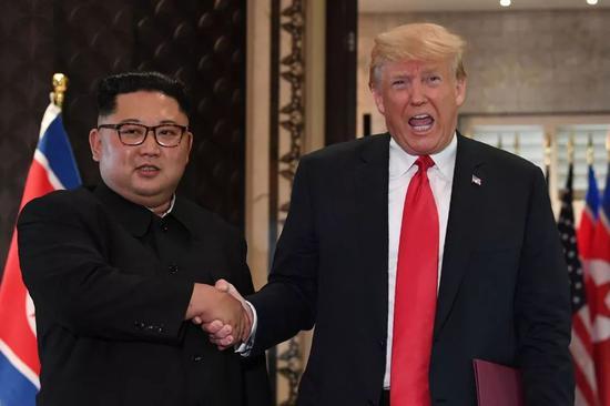 △2018年6月,金正恩与特朗普在新加坡举行会晤。