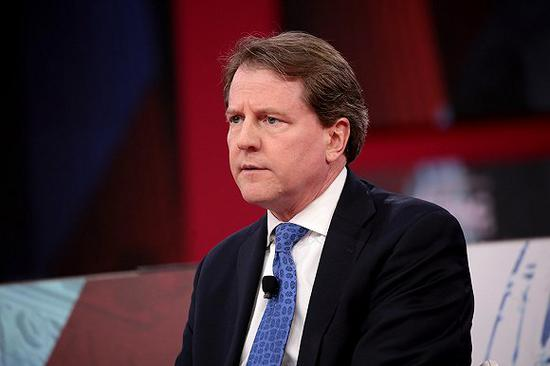 前白宫总法律顾问麦克加恩。图片来源:Flickr