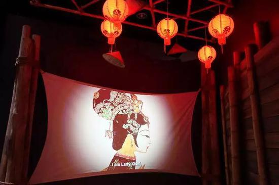在美国华盛顿国际间谍博物馆内,关于西施的动画视频。新华社记者徐剑梅摄