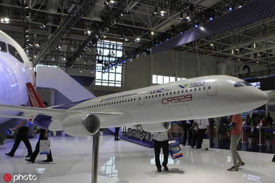 中俄CR929宽体客机大飞机 双方已获得200架采购的软合同