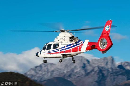 ▲资料图片:AC312E直升机在西南高原试飞成功。(视觉中国)