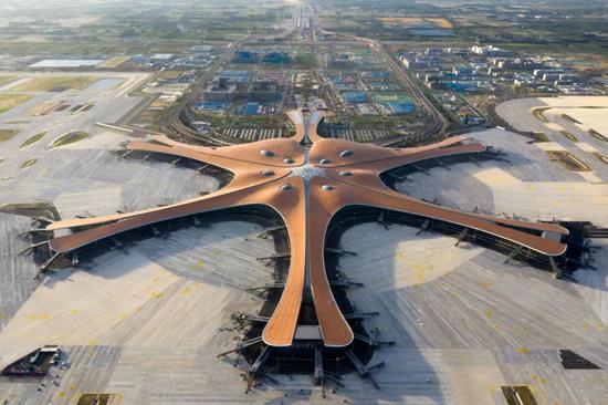 △航拍北京大兴国际机场| 记者供图