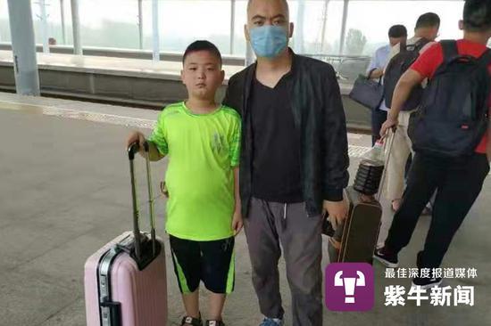 路子宽陪父亲去北京治疗