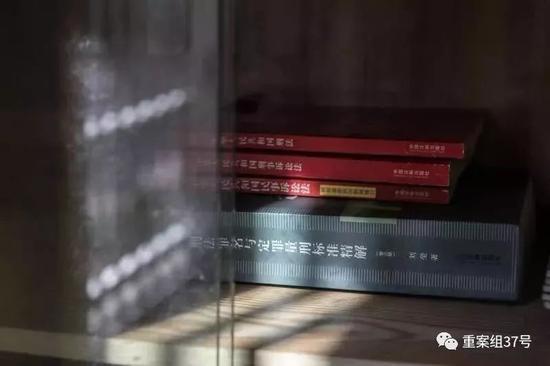 ▲2019年8月15日,湖南慈利县洞溪村,大姐张阿丽家里摆放着刑法定罪与量刑标准的解读。新京报记者 彭子洋 摄