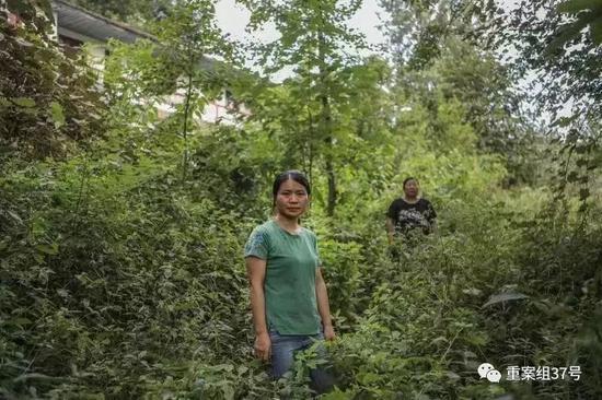 ▲2019年8月15日,湖南慈利县洞溪村,张阿丽(后)张玲丽(前)两姐妹为父追凶25年。新京报记者 彭子洋 摄