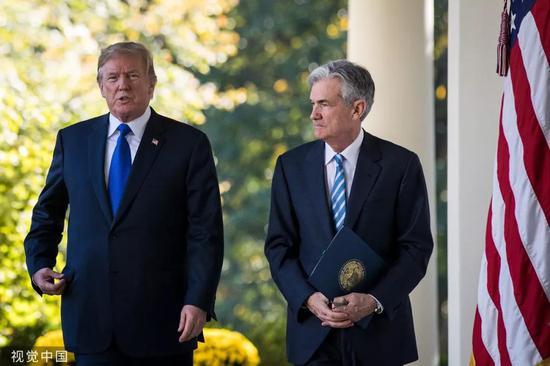 ▲美国总统特朗普(左)与美联储主席鲍威尔。