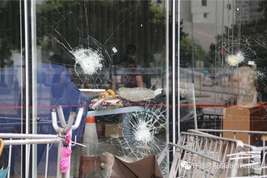 ▲暴徒冲击香港立法会 (图via Global Times)